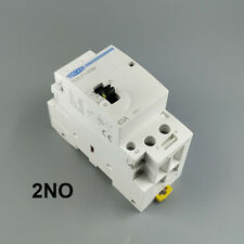 TOCT1 2P 63A 2NO 220V Din rail Household ac contactor With Manual Control Switch