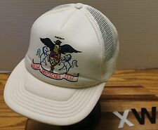 VINTAGE ODESSA DEUTSCHES FEST WASHINGTON TRUCKERS STYLE HAT SNAPBACK WHITE VGC