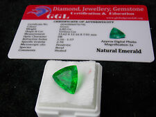 6.80 ct. Natural Certified Zambian Emerald Trillion Shape Gemstone