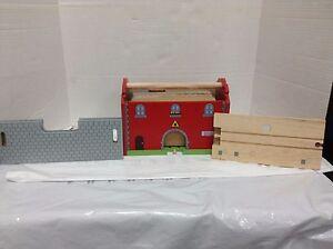 Pottery Barn Kids Railway Railroad Brio Thomas Train Station Wooden Set 36 PC