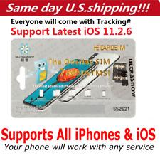 Perfect Unlock Turbo Sim Card for iPhone X 8 7 6S 6 Plus + 5S Se iOs 11.2.6 Gpp