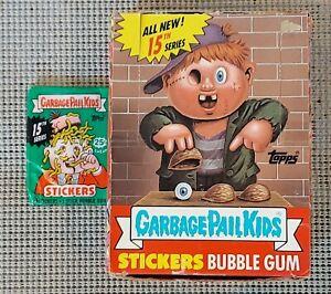 1988 Garbage Pail Kids Original 15th Series 15 GPK OS15 (BOX & 1 WAX PACK) RARE!