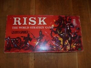 Risk Board Game - The World Strategy Game By Parker 1963 Edition Vintage