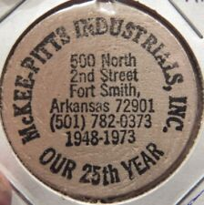 Vintage McKee-Pitts Industrials Ft. Smith, AR Wooden Nickel - Token Arkansas