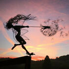Внешний вид - Garden Decor Fairies And Dandelions Dance Together Metal Lawn Landscape Statue