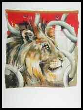 Rolf genou King Lion Lion poster image Art pression dans le cadre alu en noir 80x60cm