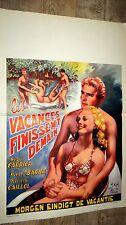 LES VACANCES FINISSSENT DEMAIN ! affiche cinema 1950