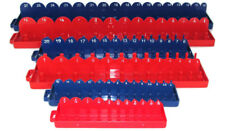 6pc 1/4 3/8 1/2 Drive SAE & METRIC Sockets Trays Holders Organizer Hand Tools