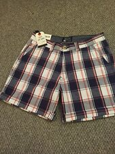 NEW....SOULCAL & CO mens check blue/white /pink shorts 100% cotton  summer