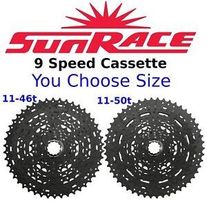 SunRace CSM99 9 Speed 11-46/ 11-50 MT Bike Cassette fits Shimano SRAM 1X
