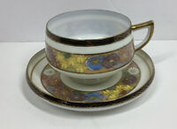 Vintage Koshida Sasuma Moriage  Lithophane Geisha Tea Cup & Saucer