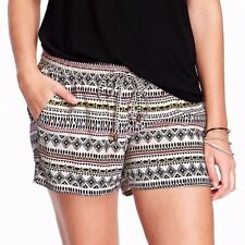 Old Navy Women's summer relax fit casual viscose printed Shorts white