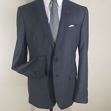 BESPOKEN NEW RECENT GRAY BIRDSEYE PURE WOOL BLAZER 2 BTN. SIDE VENTS 44 REG  .