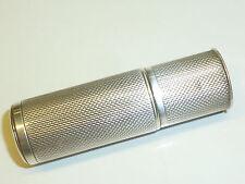 VINTAGE TUBE POCKET PETROL LIGHTER WITH STERLING SILVER CASE - NICE PIECE