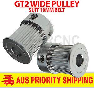 GT2 Pulley Wide 10mm Belt 5mm 6.35mm 8mm Bore 16T 20T Nema17 RepRap 3D Printer