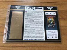 Super Bowl 11 Raiders vs. Vikings 22kt Gold Ticket Panel - Willabee Ward (NEW)