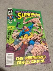 SUPERMAN THE MAN OF STEEL #17 1RST CAMEO APPEARANCE OF DOOMSDAY DC SIGNED VF-NM