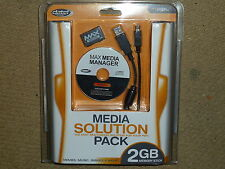 SONY PLAYSTATION PSP MAX KIT 2 GB MEDIA Memory Stick Duo Cavo USB CD Nuovo di zecca!