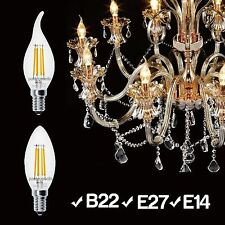 E14 E27 B22 2W 4W Edison Tip Flame Filament LED Chandelier Candle Light Bulb