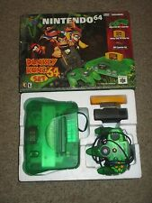 Nintendo 64 Jungle Green Console Donkey Kong Bundle with Box Game N64