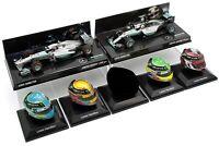 6x 1/8 1/43 Minichamps Spark Lewis Hamilton Mercedes Helmet 2013 2015 2016