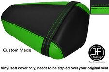 LIGHT GREEN & BLACK VINYL CUSTOM FITS KAWASAKI NINJA ZX6 R 09-13 REAR SEAT COVER