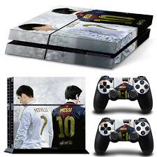 C Ronaldo Messi PS4 Skin & Controller Vinyl Skin Decal Sticker For PlayStation 4