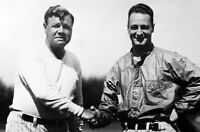 Vintage, Extremely RARE Lou Gehrig & Babe Ruth 1930's Large Photograph