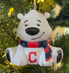 Cleveland Indians Bear Christmas Holiday Tree Ornament FREE USA SHIPPING