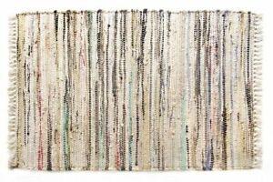 "Sturbridge 12"" x 18"" Hand Woven Cotton Place Mat in Neutral Stone Color"