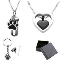 Stainless Steel Pendant Ashes Ash Necklace Memorial Urn Keepsake Holder US