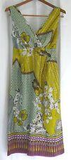 170270 Women's 2 JIGSAW Fire's Island Floral Silk A-Line Empire Waist Tank Dress
