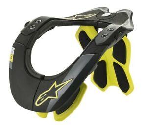 ALPINESTARS BIONIC NECK SUPPORT BNS BRACE BLACK YELLOW FLUO MOTOCROSS ADULT BMX