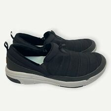 Ryka Water Repellant Slip-On Shoes - Adel Knit Black Size 11 M Used Condition