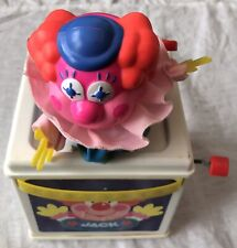Vintage Mattel 1987 Jack In The Music Box Clown Pops Up