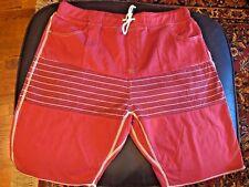 Howe Shorts Sz 38 RedElastic Tie Waist Pockets NEW
