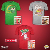Lucky Charms Trix Cocoa Puffs Funko Pop Ad Icons Target Exclusive and Shirts