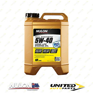 NULON Full Synthetic 5W-40 Long Life Engine Oil 10L for AUDI A4 Brand New