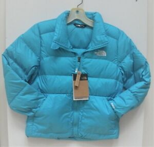 THE NORTH FACE GIRLS ANDES DOWN WINTER JACKET-A3NK- TURQUOISE BLUE-  M,L,XL