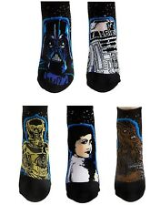 Star Wars 40th Anniversary Limited 5 No Show Socks Darth Vader Princess Leia