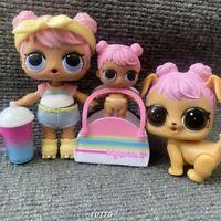 3x Dawn Dolls & Lil Dawn & Dawn Pooch Pet Set Series 3 Confetti Pop