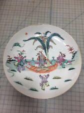 Rare 19th Century Chinese Polychrome Plate