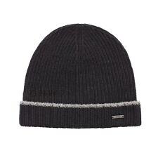 a799085b84c2c Hugo Boss Beanie Hat Mens Fati 01 Virgin Wool Black 100 Genuine