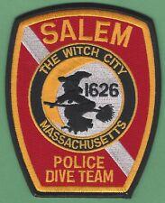 SALEM MASSACHUSETTS POLICE DIVE TEAM PATCH WITCH CITY