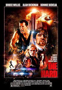 1988 Die Hard Movie Poster Print > John McClane > Bruce Willis >Nakatomi Plaza🍿