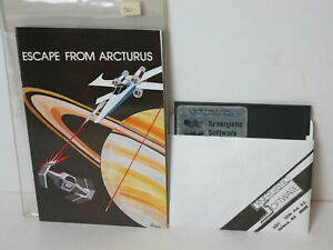 Vintage Apple II Game ESCAPE FROM ARCTURUS Synergistic 1980