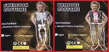 Infant SKELETON VAMPIRE COSTUME Halloween Gothic Party sz 0-1 Minor Print Fault