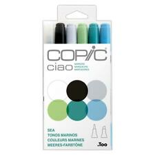 Copic Ciao Twin Tip Art Markers Set of 6 - Sea Colours