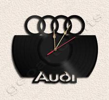 Audi Vinyl Record Clock Upcycled Gift Idea