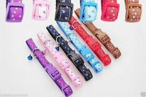 Colourful Pet Collars for Dogs, Cats, Puppies - Medium & Adjustable